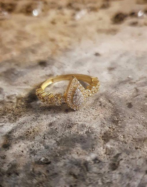 altın damla yüzük