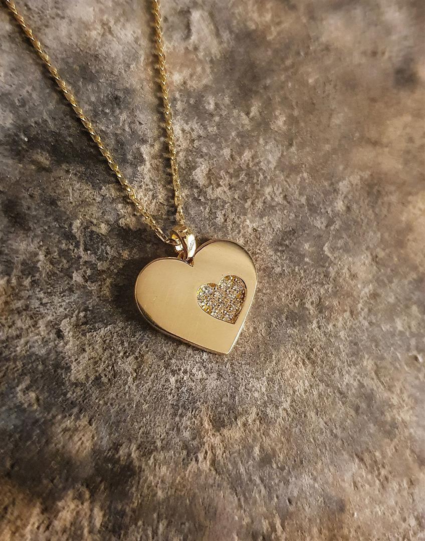 altın kalp kolye