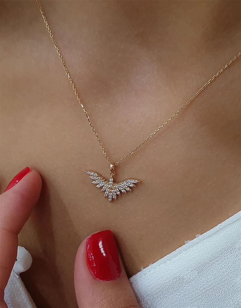 altın melek kanat kolye modelleri