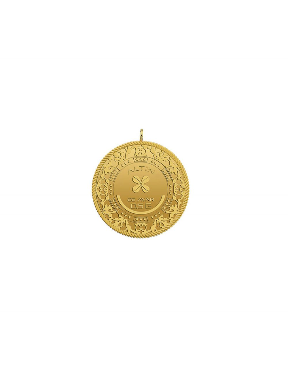 22 ayar yarım gram altın