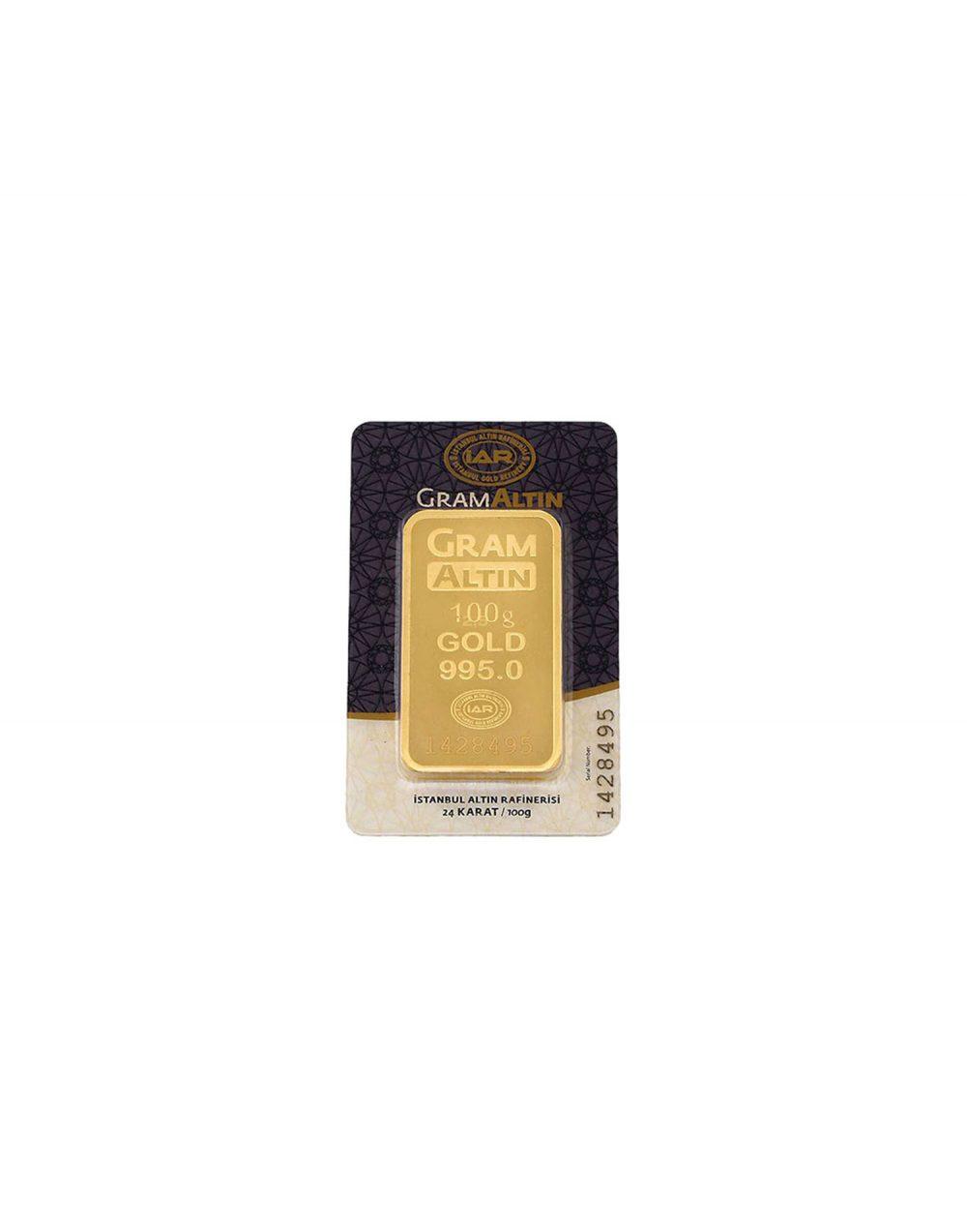 24 ayar 100 gram altın