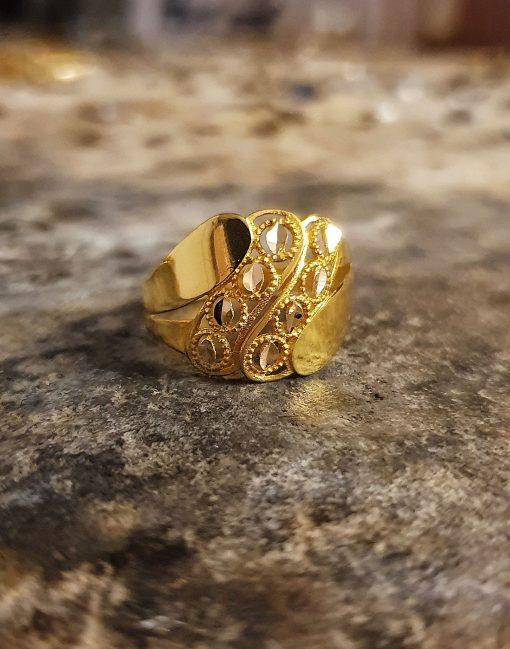 altın fantazi model yüzük
