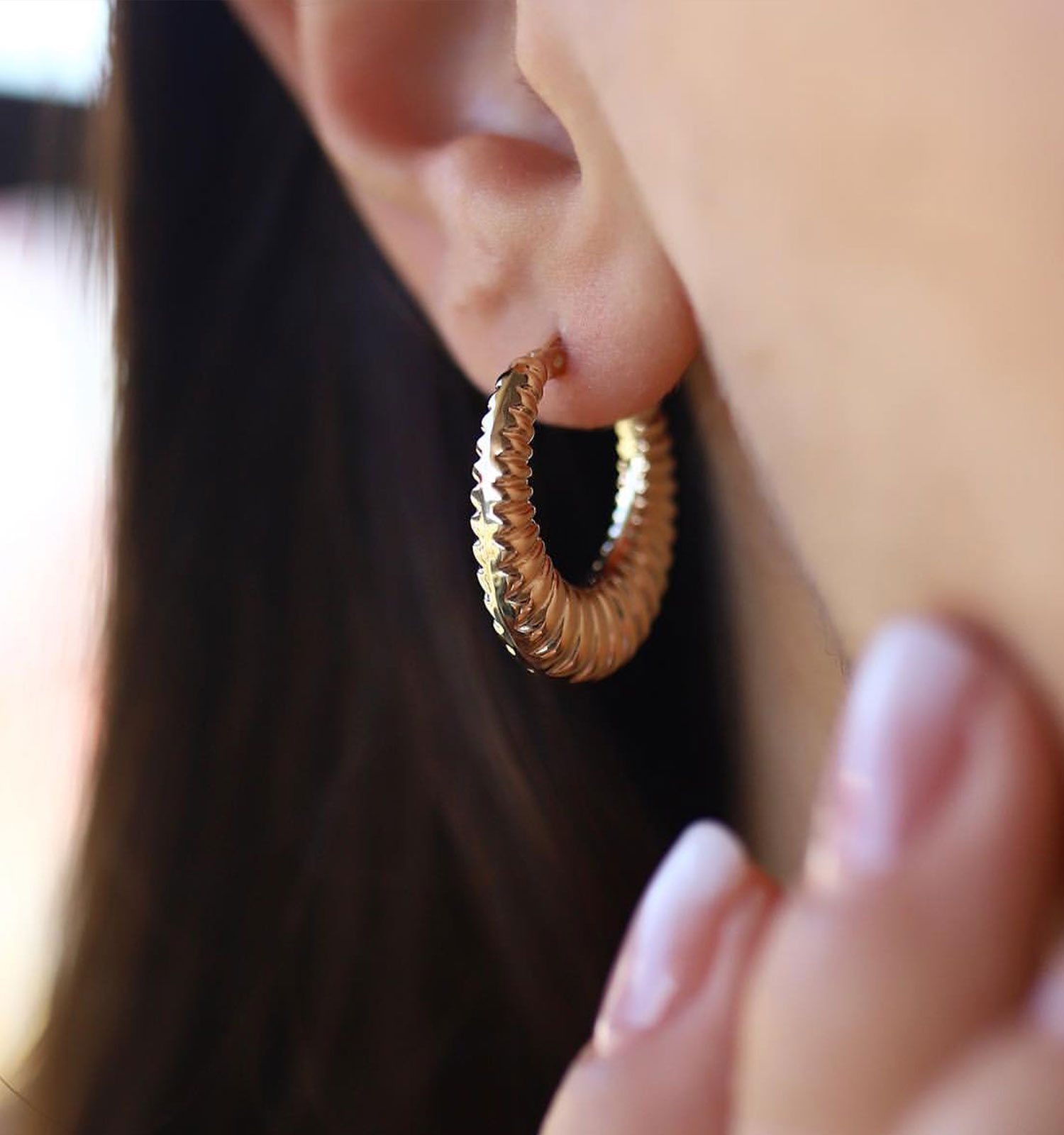 moda altın küpe