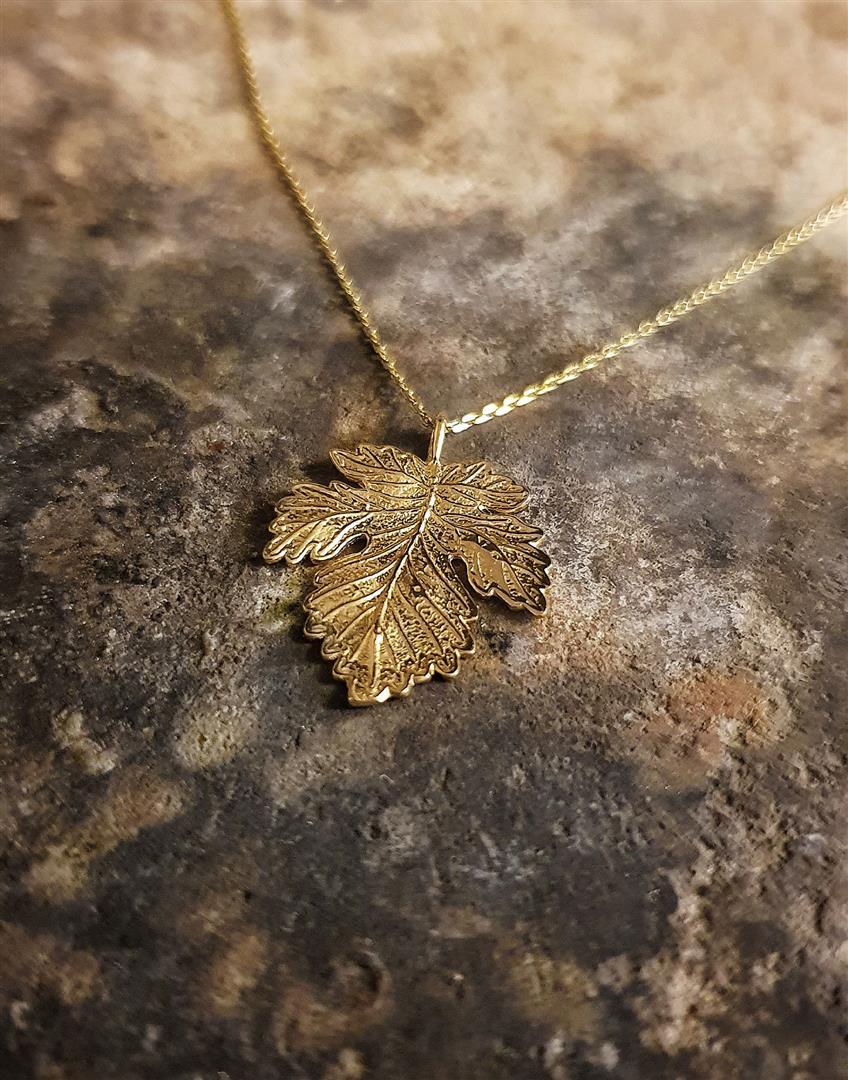 çınar yaprağı kolyeler altın