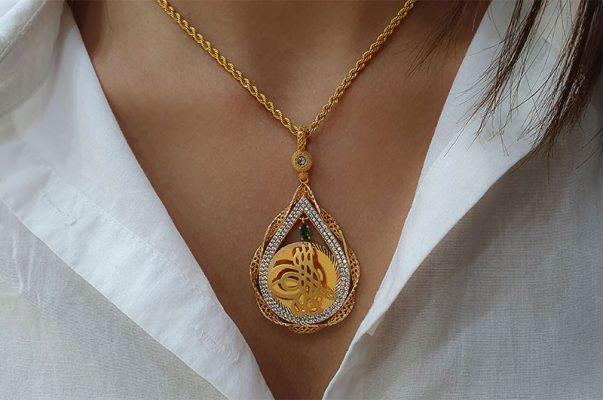 ottoman tugra necklace